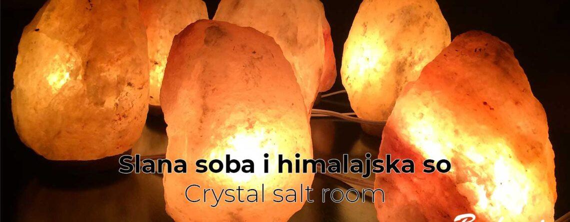Slana soba i himalajska so - Crystal salt room